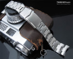 22mm Super Oyster 316L Stainless Steel Watch Band for Orient Mako II, V-Clasp Button Double Lock