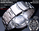 22mm Super Oyster Stainless Steel Watch Band Bracelet Design for Seiko 6309-7040 Curved Lug
