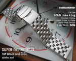 22mm Super Engineer II Solid Stainless Steel Watch Band Push Button B