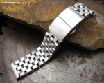 21.5mm SUPER Engineer Type II Solid Stainless Steel Watch Bracelet for Seiko Tuna, Dome Deployment, Sandblast